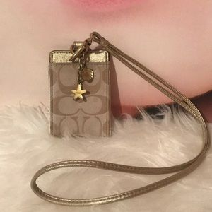 Coach ID or badge holder authentic